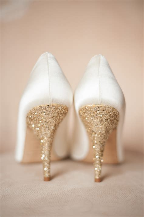 Ivory Gold Wedding Shoes by Wedding Inspiration Golden Glow Pretty Happy