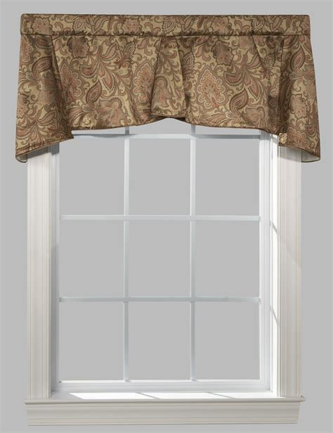 how to tea stain glass l shades beige window valance l polyester valance in ecru palm