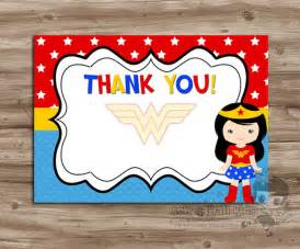 pre made blank wonder woman thank you card coordinates w