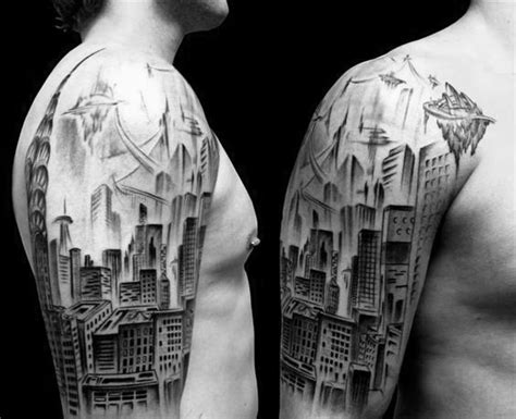 ink city tattoos 70 city skyline designs for downtown ink ideas