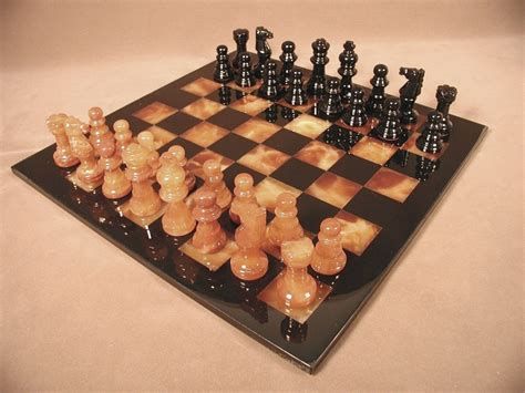 marble alabaster chess sets