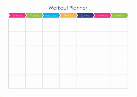 7 workout schedule template cashier resume