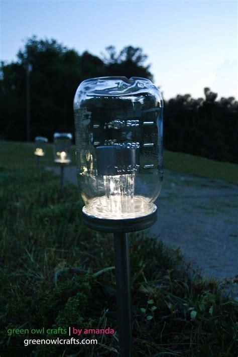 Up Cycled Mason Jar Solar Lights I Have Olive Jars Now A Solar Lights For Crafts