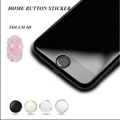 touch id home button sticker for iphone 5s 6 6s 7 plus air ebay