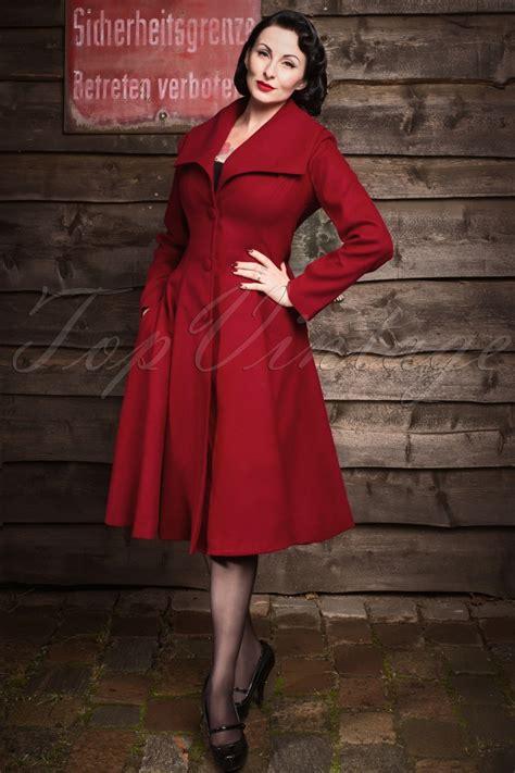 50s swing coat 50s coleen swing coat in burgundy