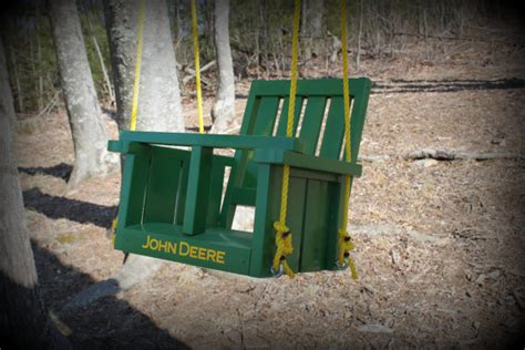 john deere swing set childs john deere solid wood painted swing john by clemswshop