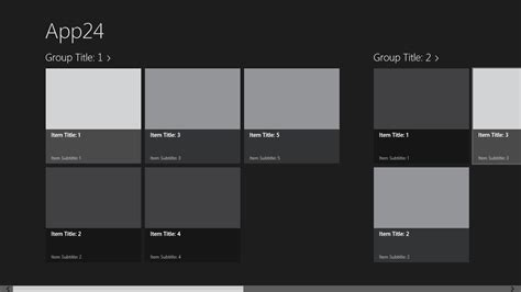 layout template gridview c how to do xaml template like bing app for windows 8