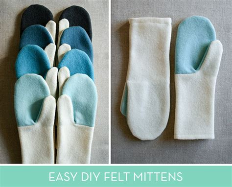 how to make simple felted wool mittens curbly