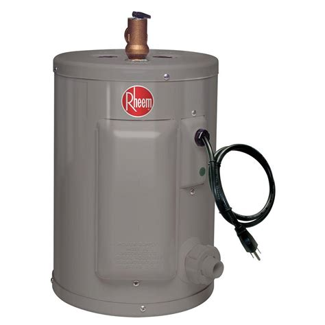 small electric water heater 10 gal rheem 2 5 gal 6 year 1440 watt single element