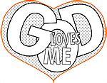 god loves me heart