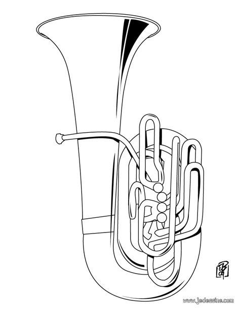 euphonium coloring page coloriages coloriage d un tuba fr hellokids com