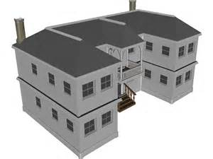 Home Design 3d Browser 2 Story Vacation House 3d Model Download 3d Cad Browser