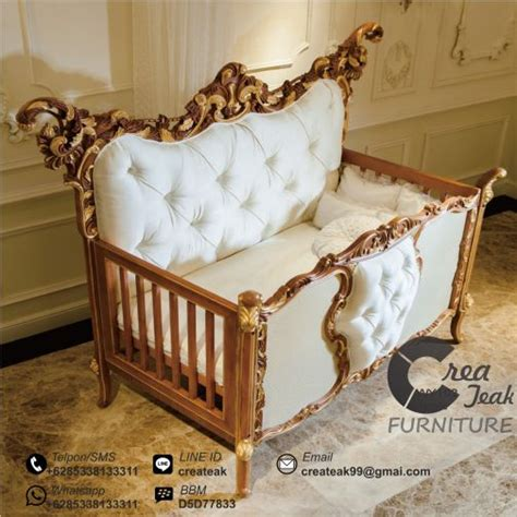 Keranjang Bayi Dari Kayu ranjang bayi ukir rococo createak furniture createak furniture