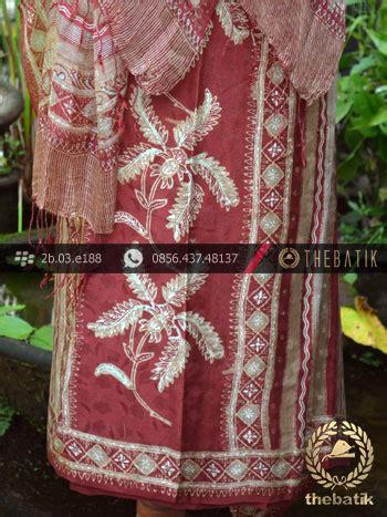 Kain Batik Cap Parang Lereng Pink jual sarung selendang batik sutera motif bouquet garis
