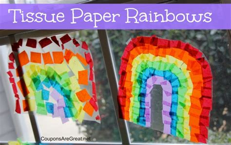 tissue paper rainbow craft craft idea how to make contact paper tissue paper rainbows