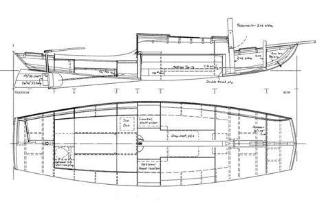 scow hull plans garvey 33 woodenboat magazine