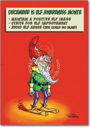 funny top  elf cards nobleworks cards