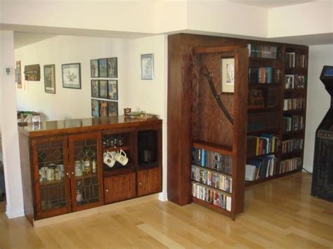 invisidoor door bookcase family room by custom