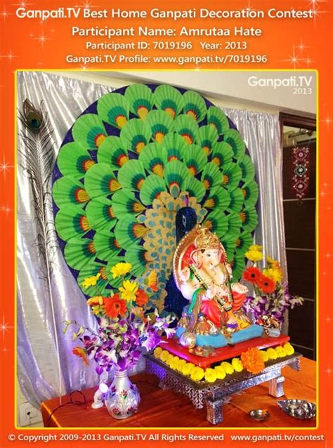 Home Ganpati Decoration by Amrutaa Ganpati Tv