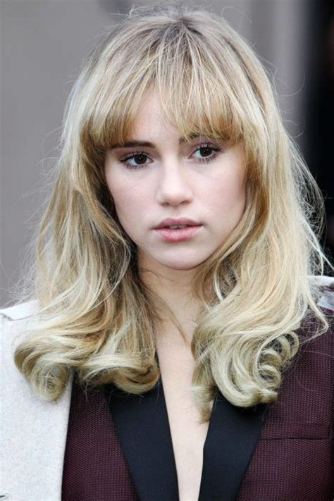 hairstyles blonde fringe suki long hair fringe 60s hair hair inspiration