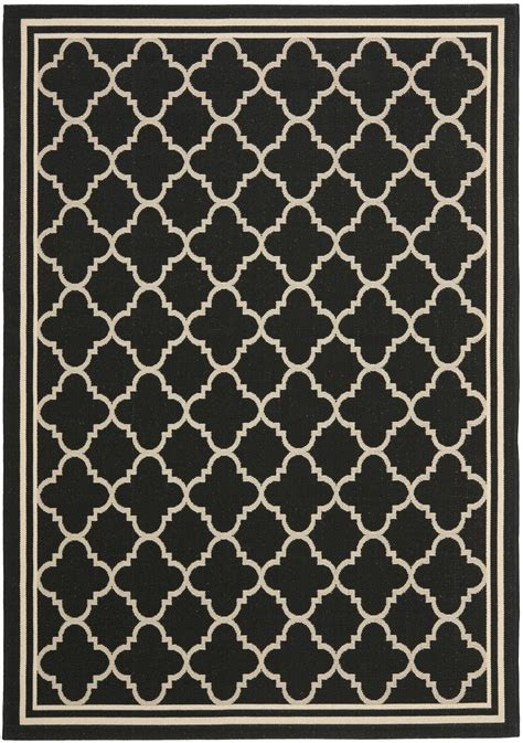 black and beige rugs safavieh courtyard cy6918 226 black and beige area rug free shipping
