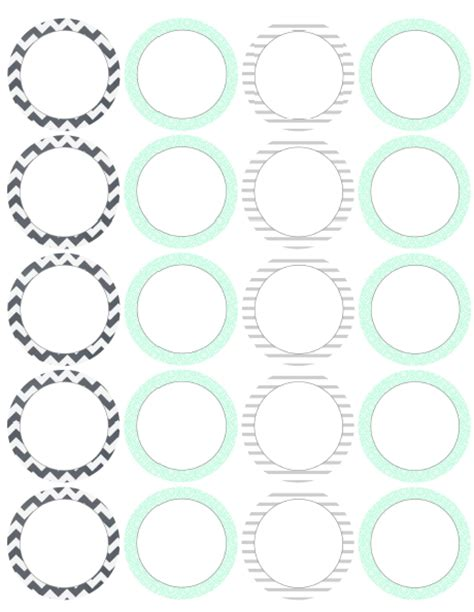 Round Square Labels From Lizzy S Collection Worldlabel Blog Circle Sticker Labels Template