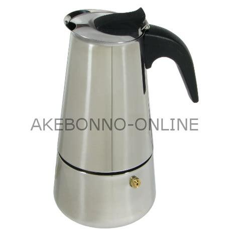 Pembuat Kopi Moka Pot Coffee Maker Akebonno peralatan minum akebonno manual moka pot 6 cup