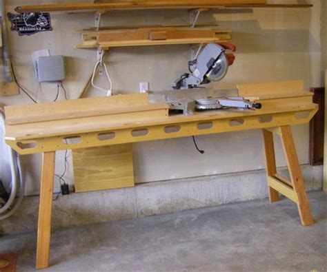 build miter saw bench build portable miter saw stand wood nailer size saw