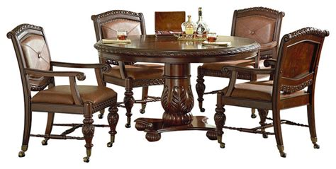antoinette dining room set steve silver antoinette 5 piece 54 inch round dining room