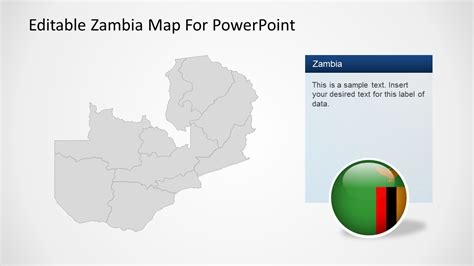 Editable Zambia Map For Powerpoint Slidemodel Editable Powerpoint Templates