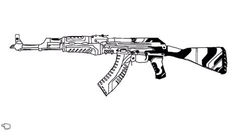 Csgo Awp Outline by Ak 47 Vulcan Speed Draw