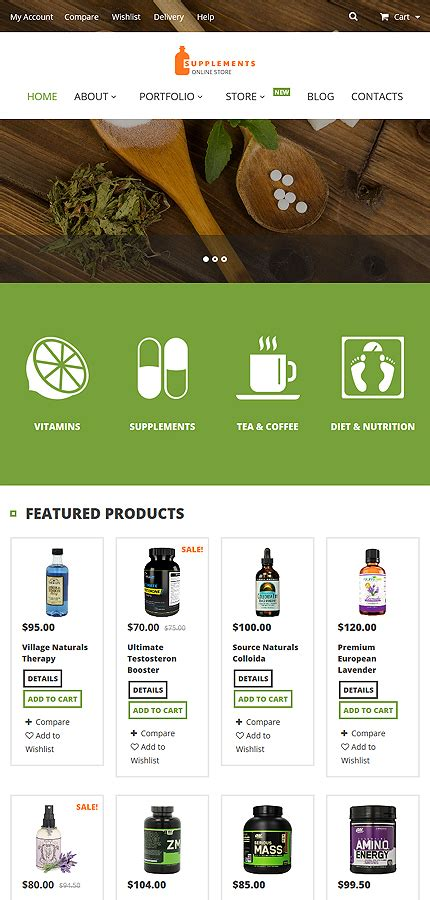 Nutrition Supplements Woocommerce Theme Website Templates Nutrition Website Templates
