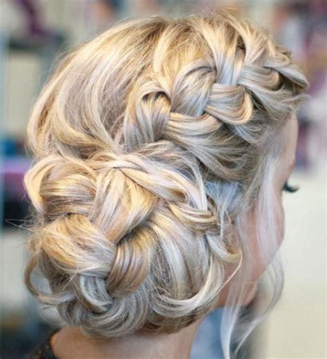 Wedding Hair Side Bun Plait by Side Braid With A Braided Side Bun Braided