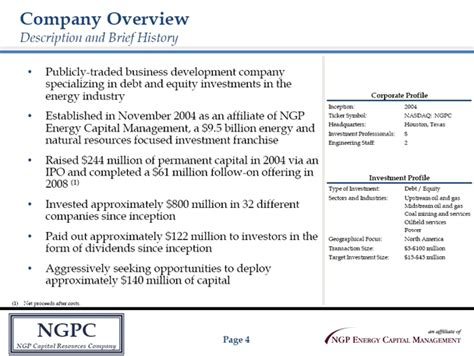 agendacompany overviewinvestment criteriaportfolio highlightspartnering with ngpcngpcngp capital
