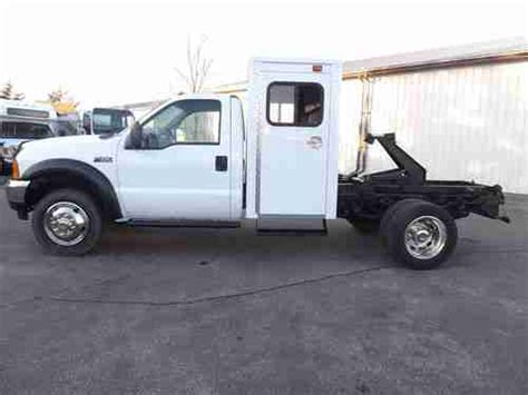 With Sleeper Cab by Sell Used Ford F450 7 3 Diesel Sleeper Cab Chassis Hoist