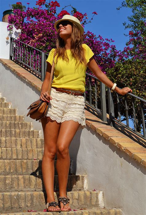 Ways To Wear Lace by With Lace Shorts 17 Ways To Wear Lace Shorts