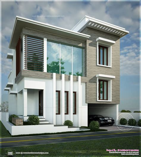 square contemporary modern home kerala home design