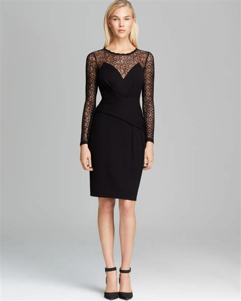 Vianna Lace Dress Black lyst connection dress vienna lace jersey in black