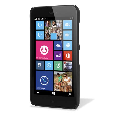 nokia lumia 630 635 toughguard nokia lumia 635 630 rubberised case black