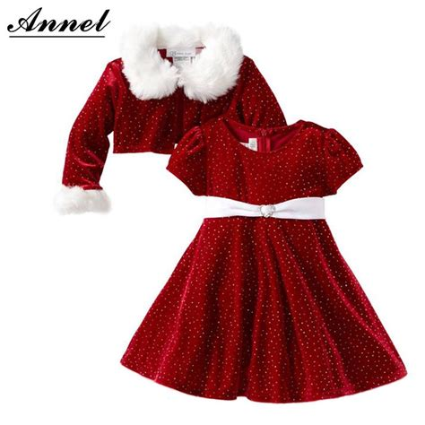 girls red velvet christmas dress