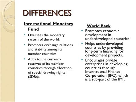 define world bank imf and world bank