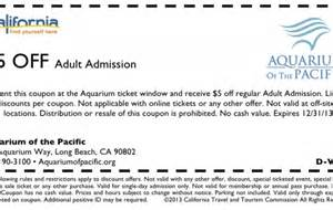 Cal Car Cover Discount Code Coupons For Aquarium Of The Pacific 2016 2017 Best