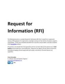 request for template sle request for information rfi document