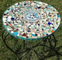 Mosaic Top Patio Table Diy Outdoor Table Ideas For Garden Improvement