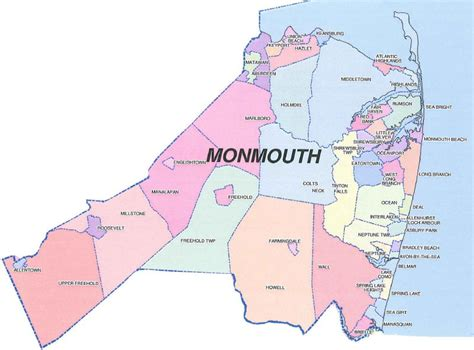 map of monmouth county new jersey related keywords suggestions for monmouth county nj