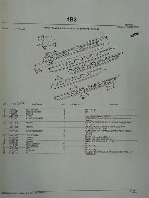 deere jd 550 crawler dozer parts manual pc1437