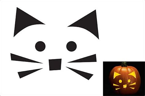 Pumpkin Carving Cat Templates by 44 Spooky Cat Pumpkin Stencils You Ll Carving This