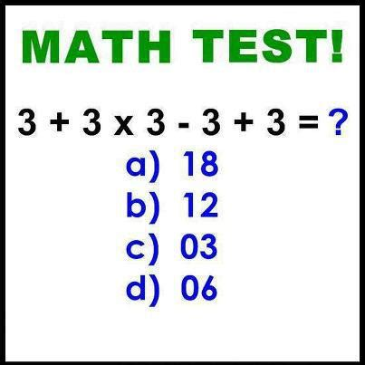 INFORMATION AT INTERNET: Simple Maths Test