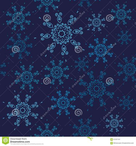 01bb23 Snowflake Patten Simple Design Blue seamless snowflakes pattern design with blue