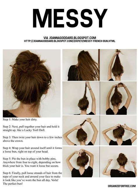 different hairstyle with a bun maker quot link to a pdf with over 30 beautiful easy hairstyles for